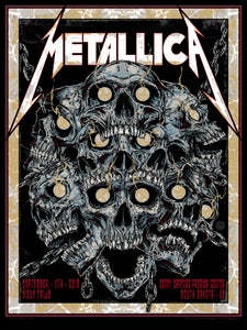 Image of METALLICA - SIOUX FALLS - gigposter gold foil variant
