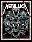 Image of METALLICA - SIOUX FALLS - WIRED SKULL gigposter