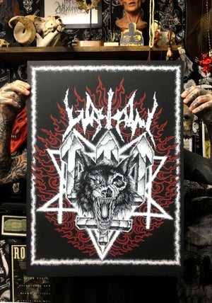 Image of WATAIN print by RAF