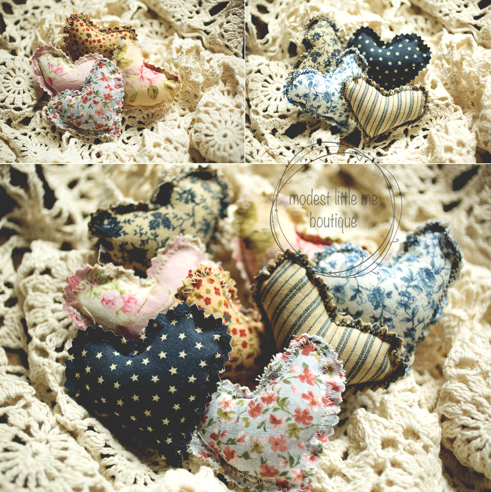 Image of { Vintage } Cuddle Hearts