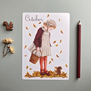 "Image of ""October"" large card"