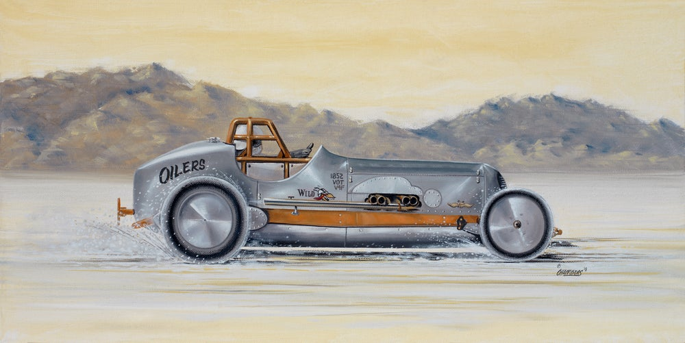 Image of Oilers Salt Flats / Giclee Canvas Wrap