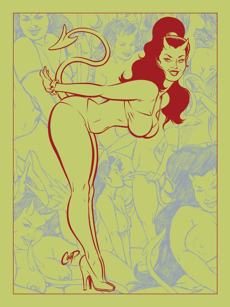 Image of DEVIL'S BIKINI silkscreen print