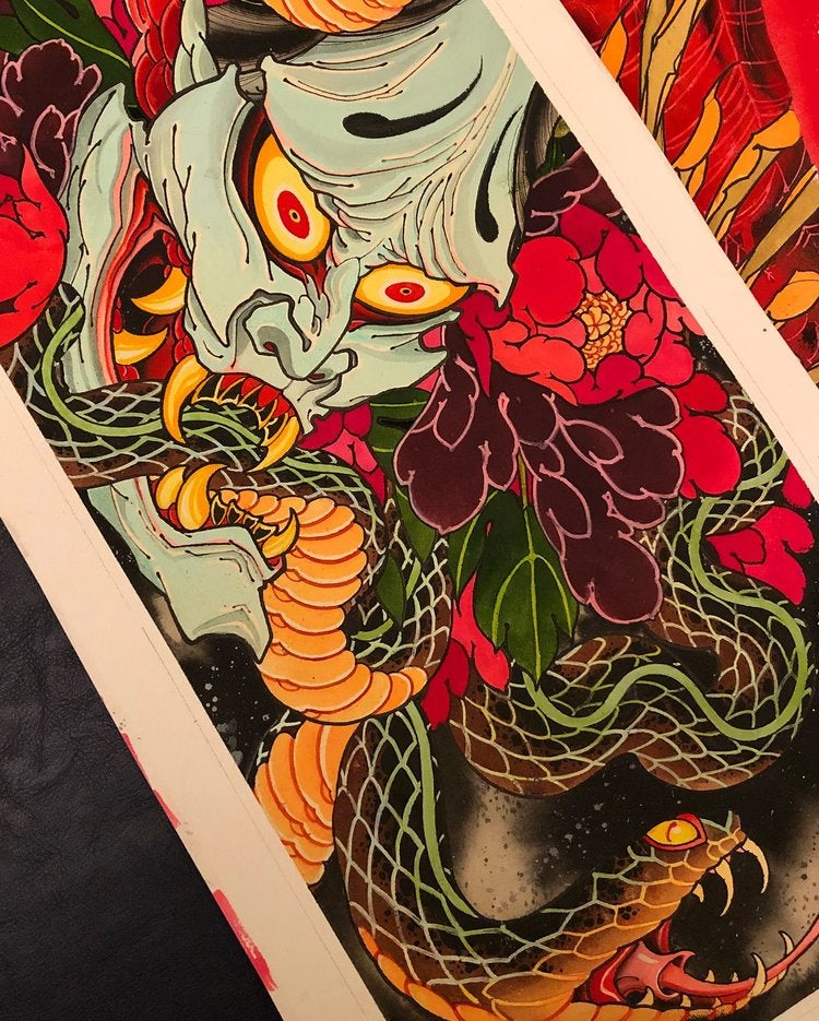 Image of Hannya and Serpent