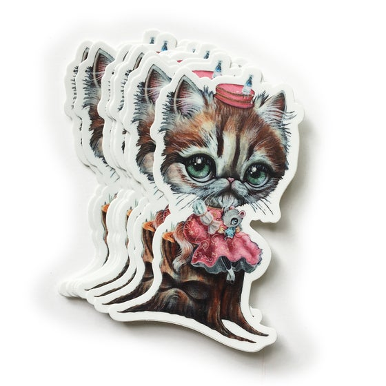 Image of Milk Bottle Kitty Sticker