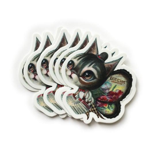Image of Accordion Cat Sticker