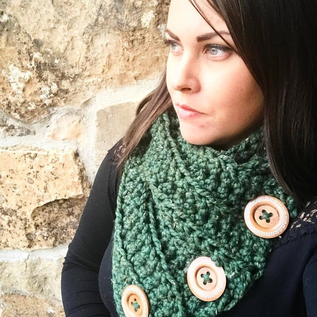 Image of Triple Button Cowl