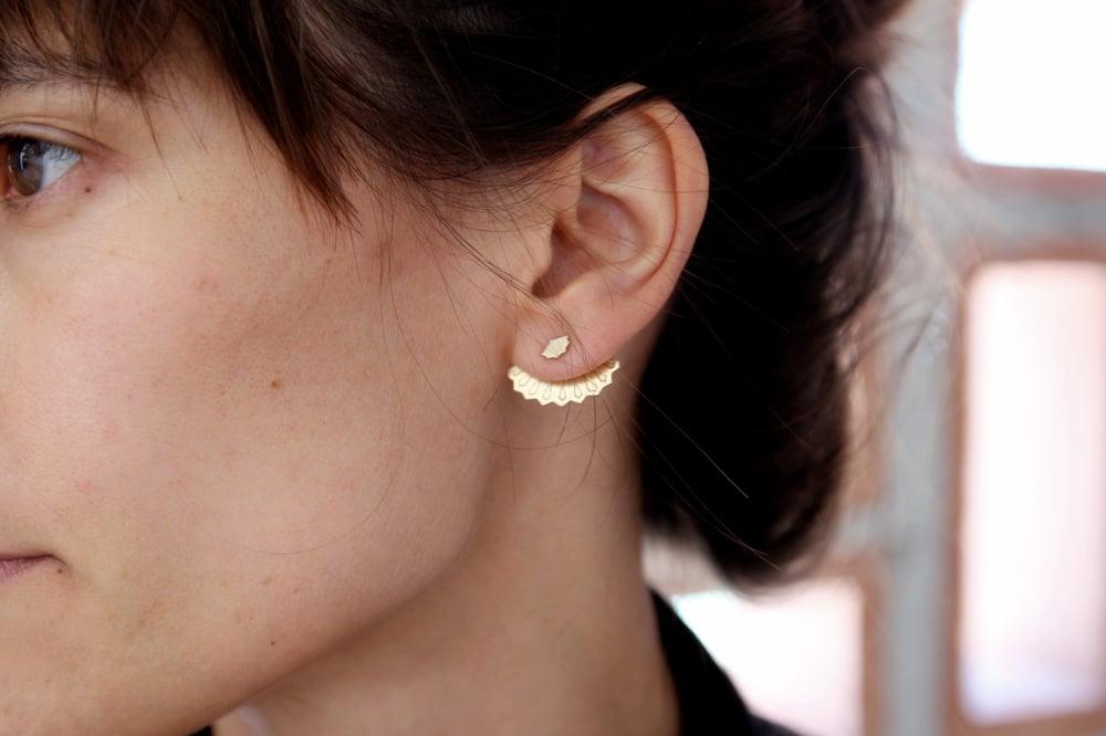 Image of boucles d'oreilles rétro