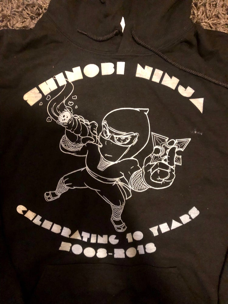 Image of Shinobi Ninja 10 Year Anniversary Ninja Smoking A Joint Tank Top