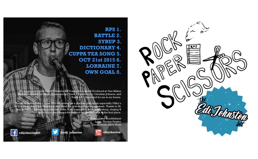 Image of The Edi Johnston Bit Rock Paper Scissors EP
