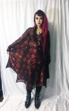 Bat Dress with holographic red