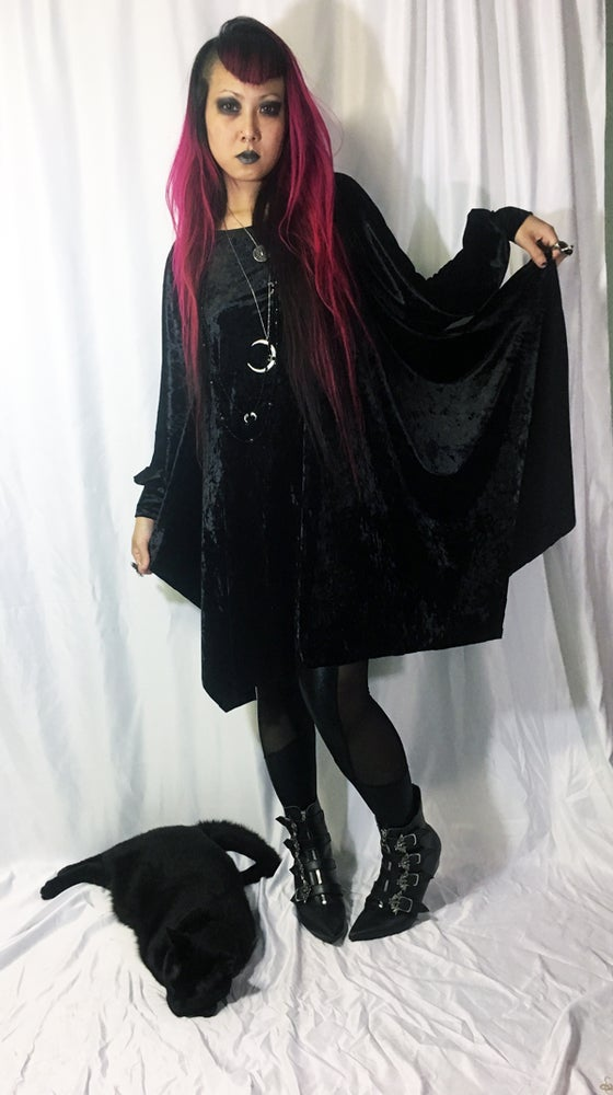 Image of Bishop Sleeve Dress on Black Velvet