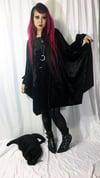 Bishop Sleeve Dress on Black Velvet