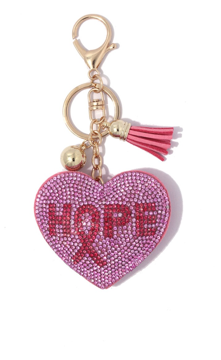 Image of Breast Cancer Awareness Puffy Keychain
