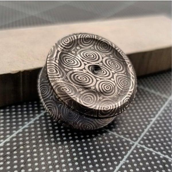 Image of BlueTongue Damasteel Buttons