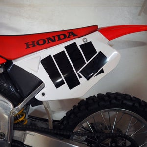 Image of WHITE / BLACK Number Plate Vinyl