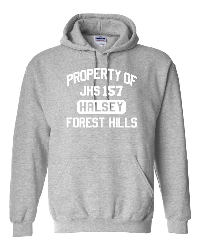 Image of PROPERTY OF HALSEY HOODIE SWEATSHIRT GREY