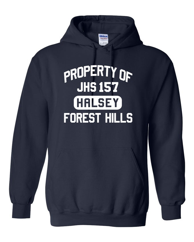 Image of PROPERTY OF HALSEY HOODIE SWEATSHIRT NAVY