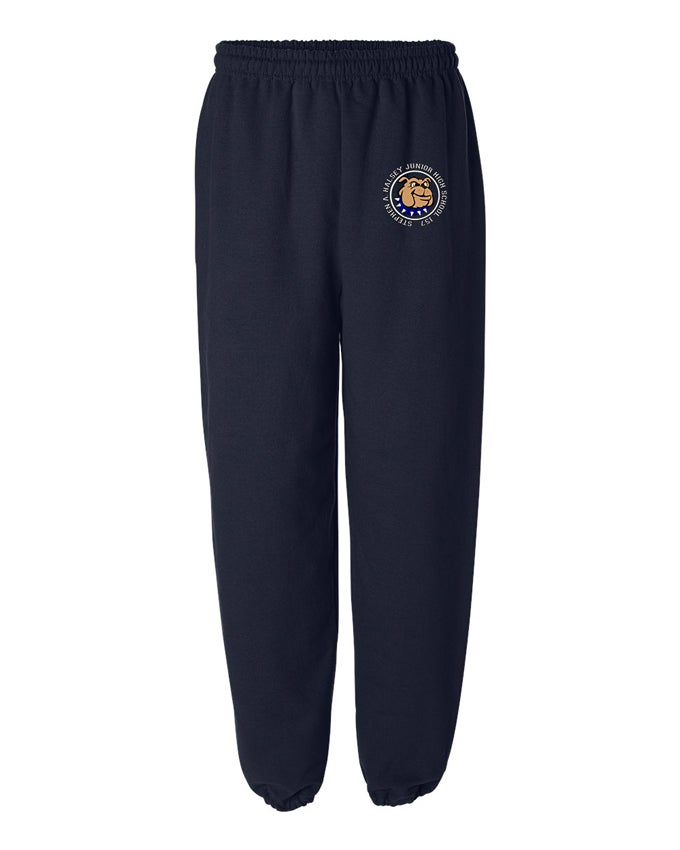 Image of HALSEY BULLDOGS LOGO SWEATPANTS NAVY