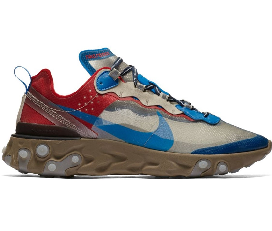 "Image of Nike React Element 87 Undecover ""Light Beige Chalk """