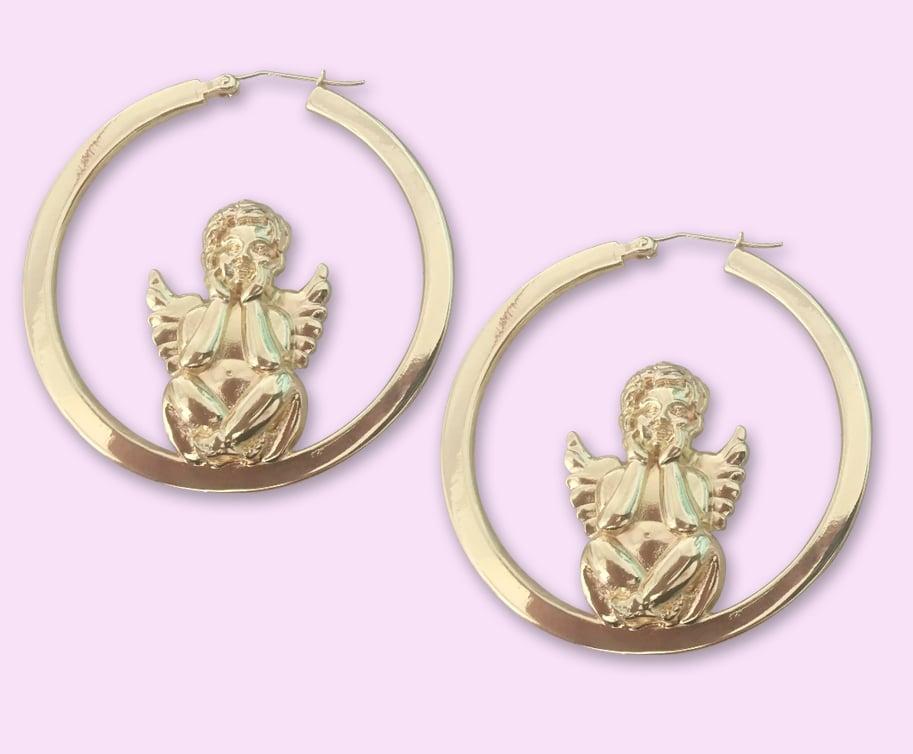 Image of Angel Baby Hoops