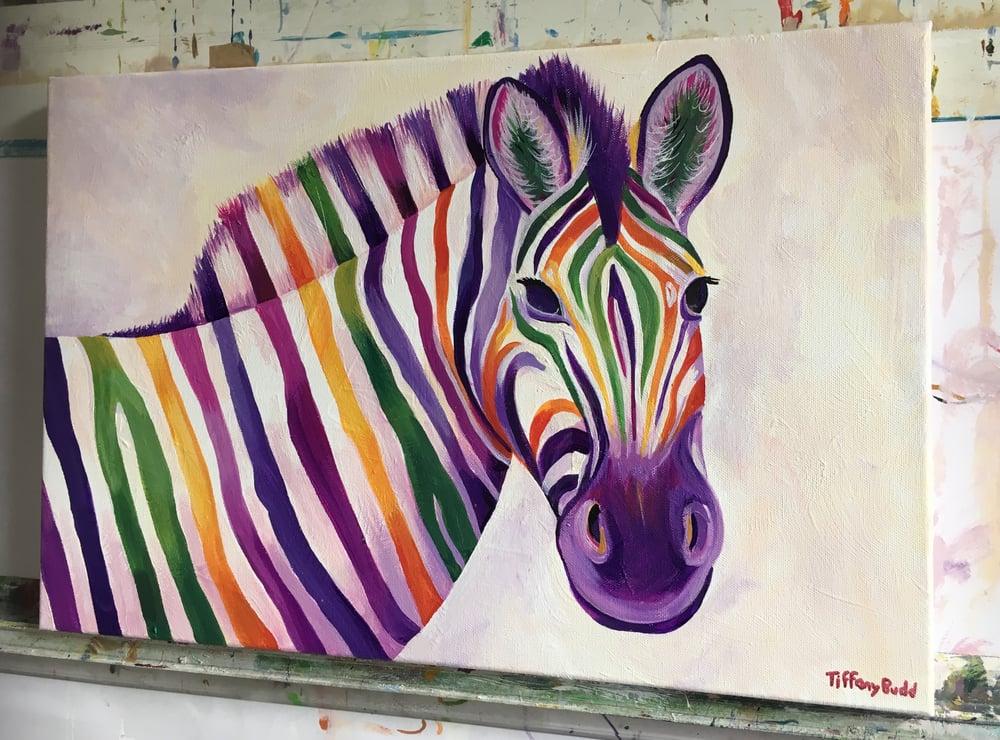 Image of Rainbow Zebra print