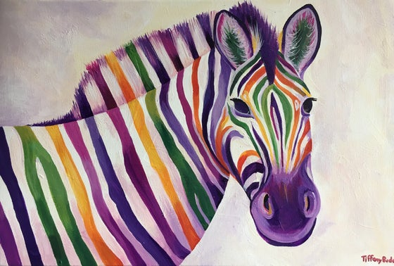 Image of Rainbow Zebra print