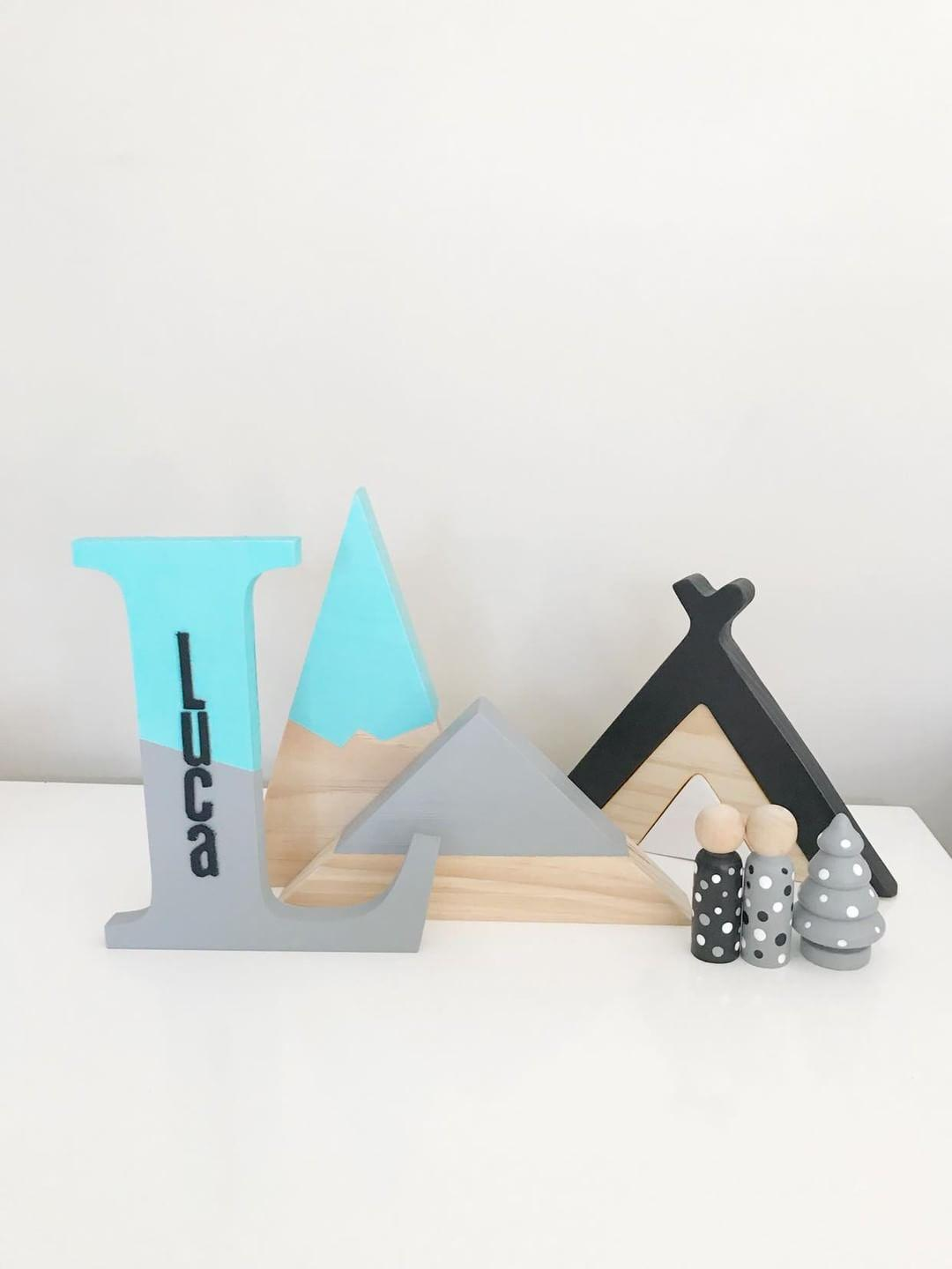 Image of Wooden Teepee Stacker
