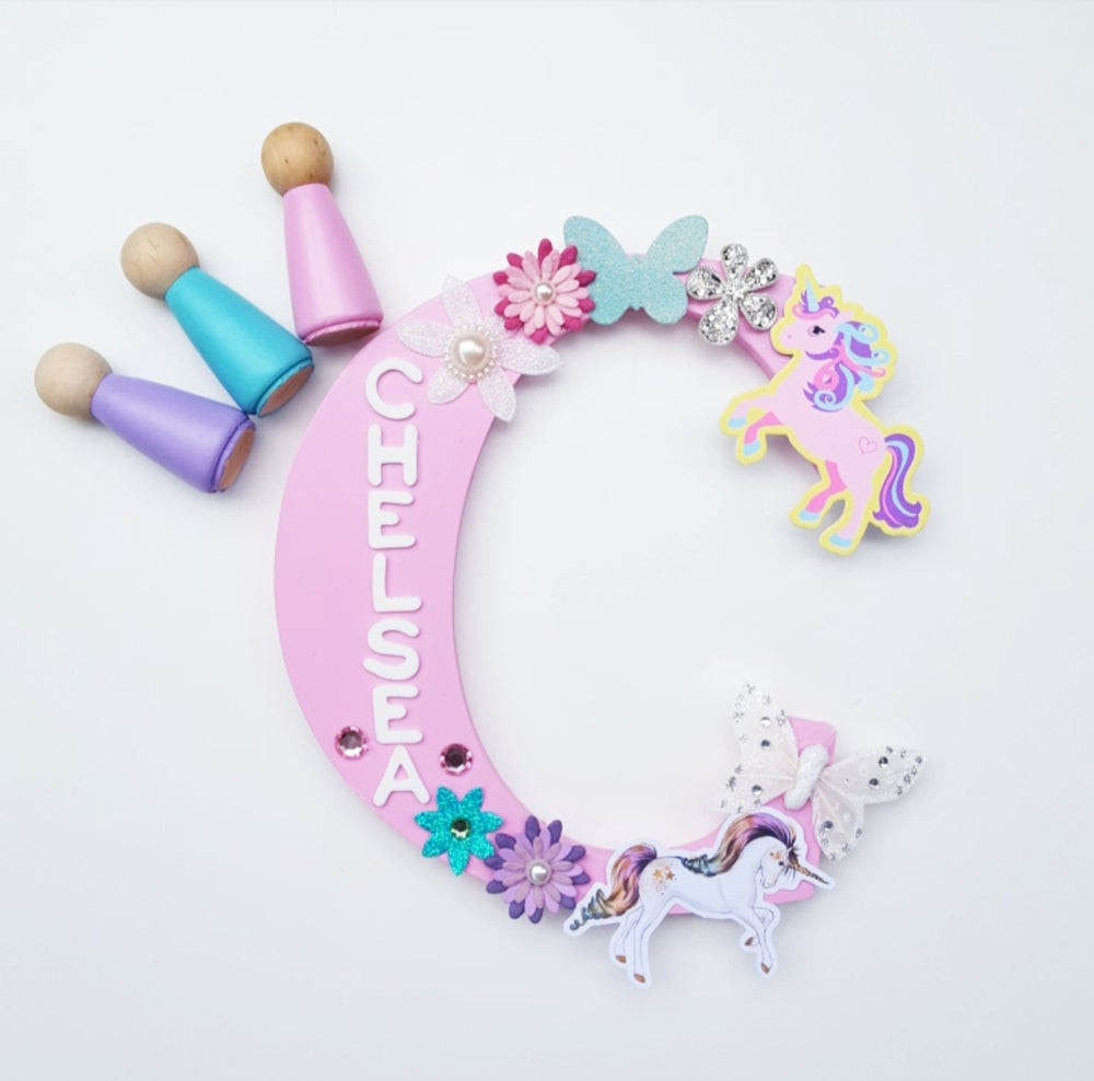 Image of Girls UNICORN Personalised letters