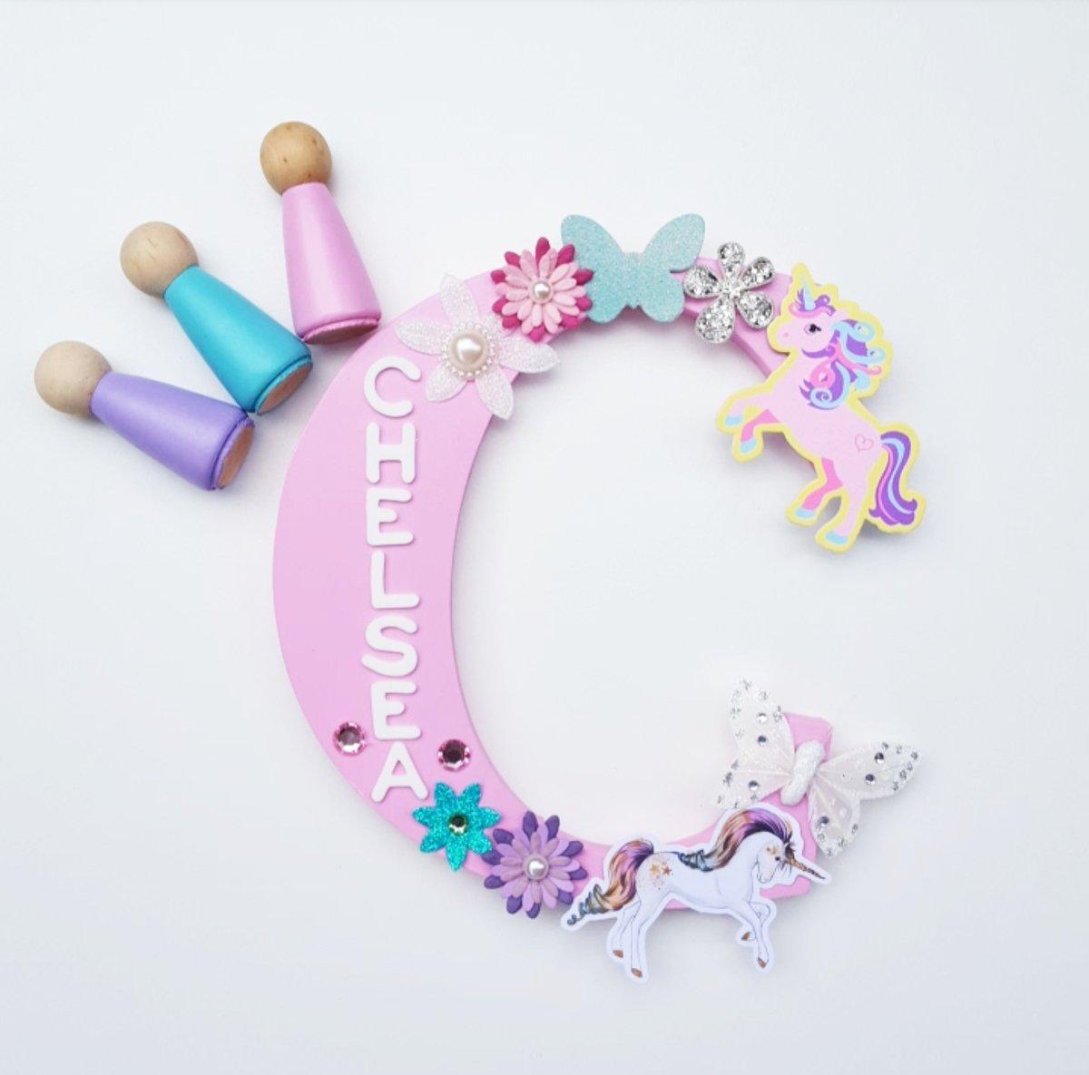 Image of Girls UNICORN Personalised letters