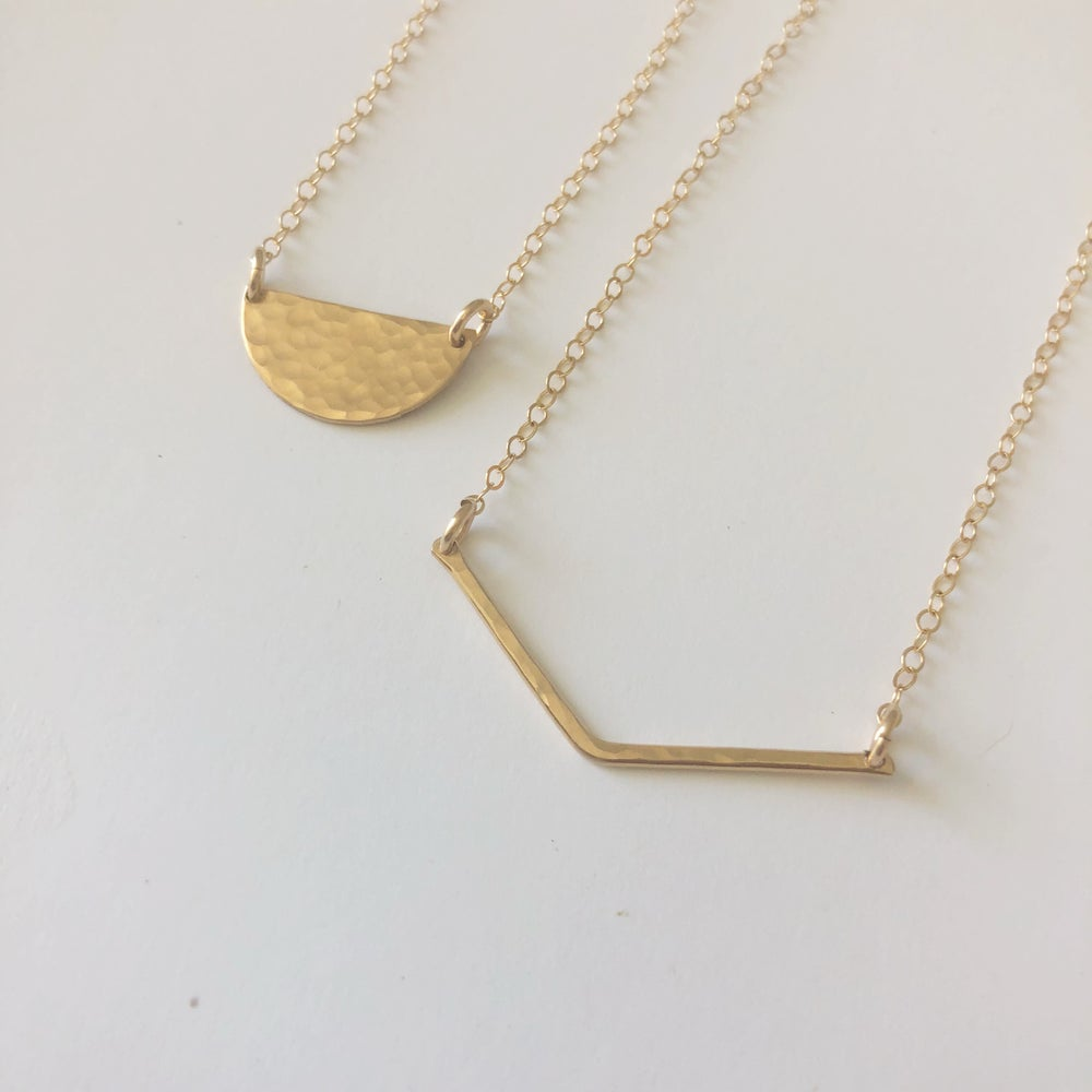 Image of Gold filled Chevron Necklace