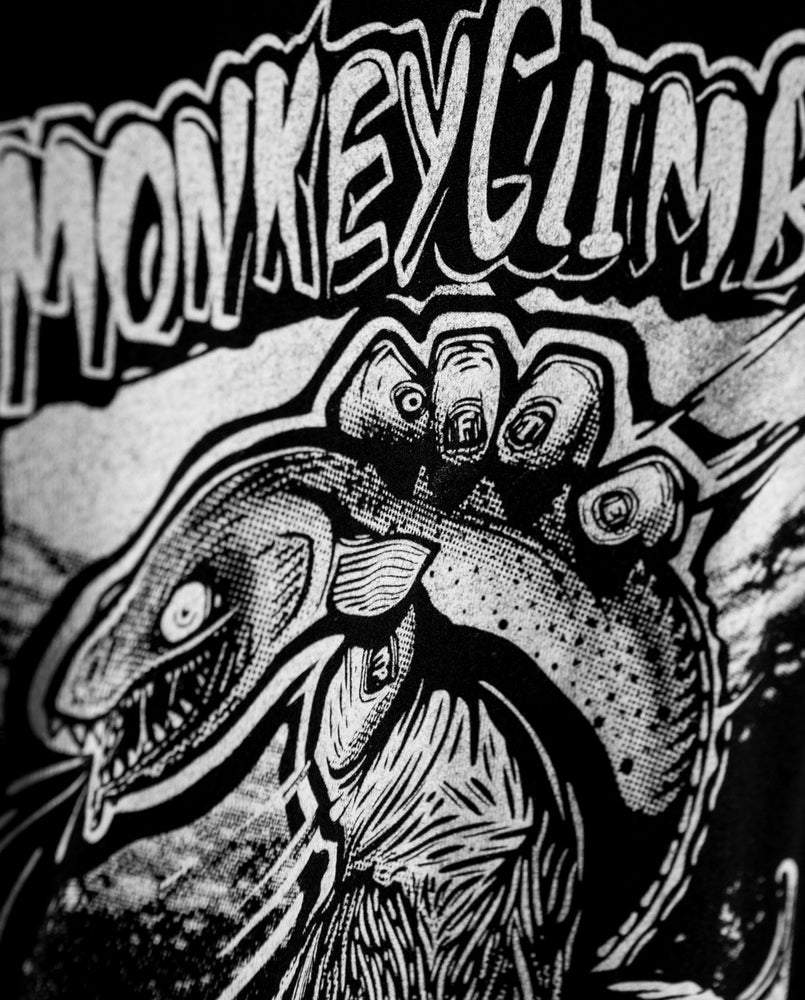 Image of Monkey Climber x Wofte collab shirt & Sticker pack I Black