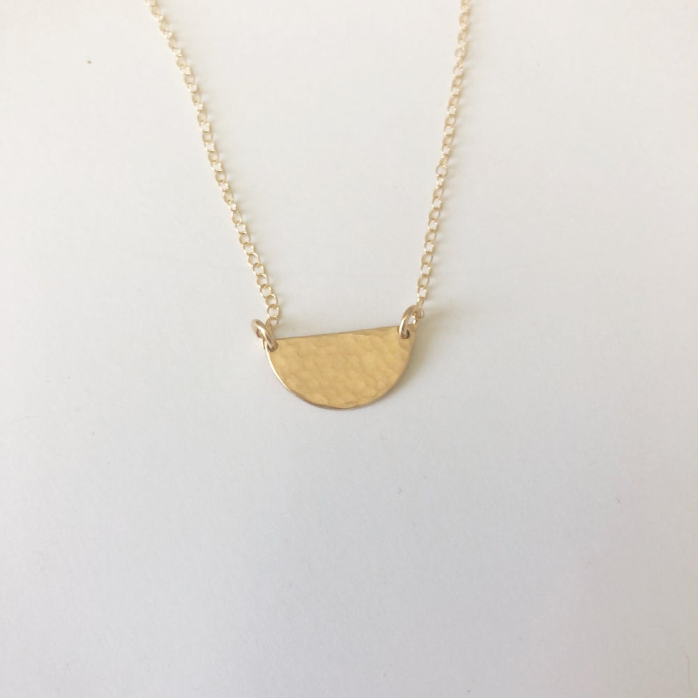 Image of Gold fill Crescent Necklace