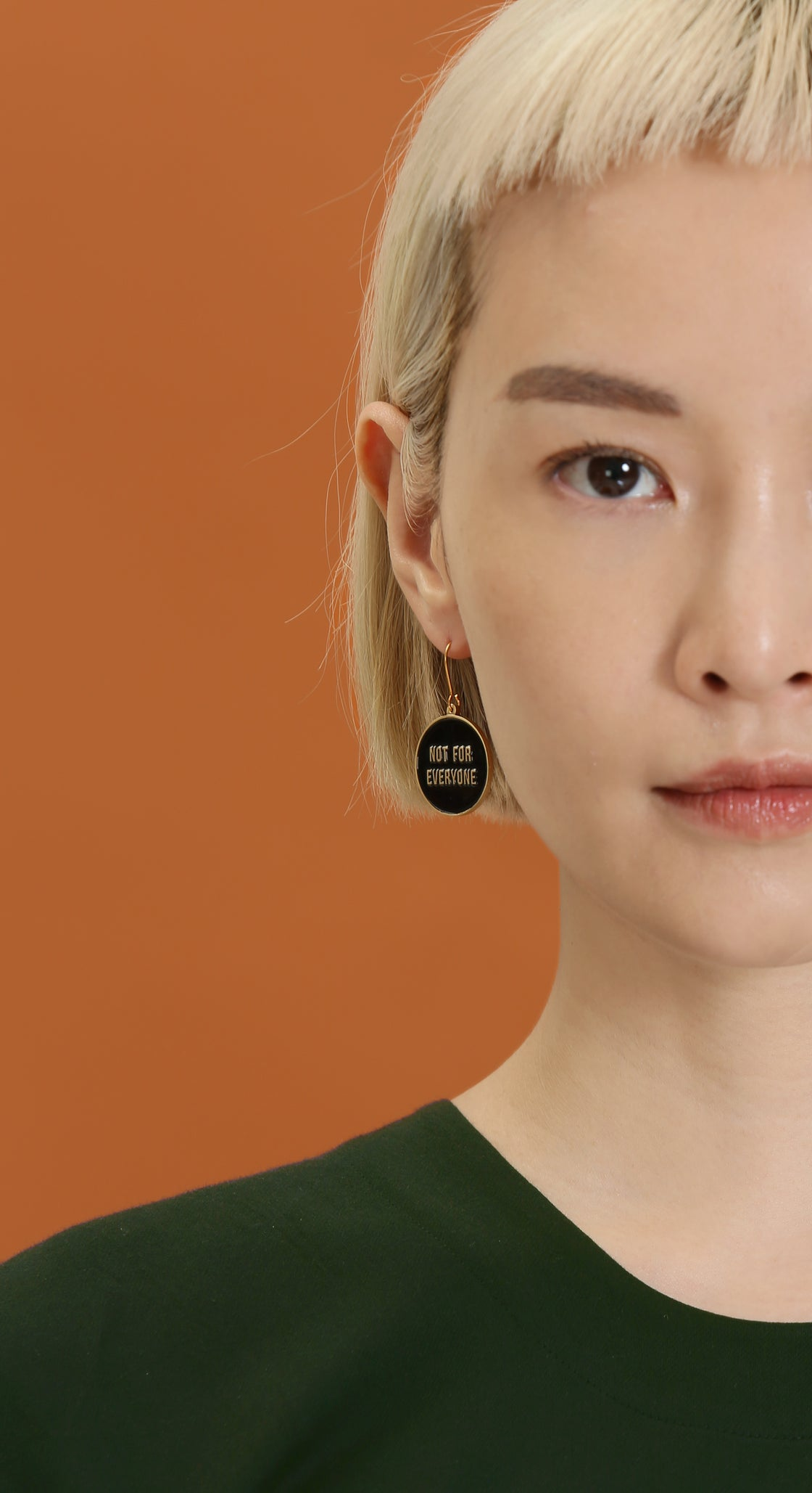 Image of Not for Everyone + Reserved - reversible Earrings