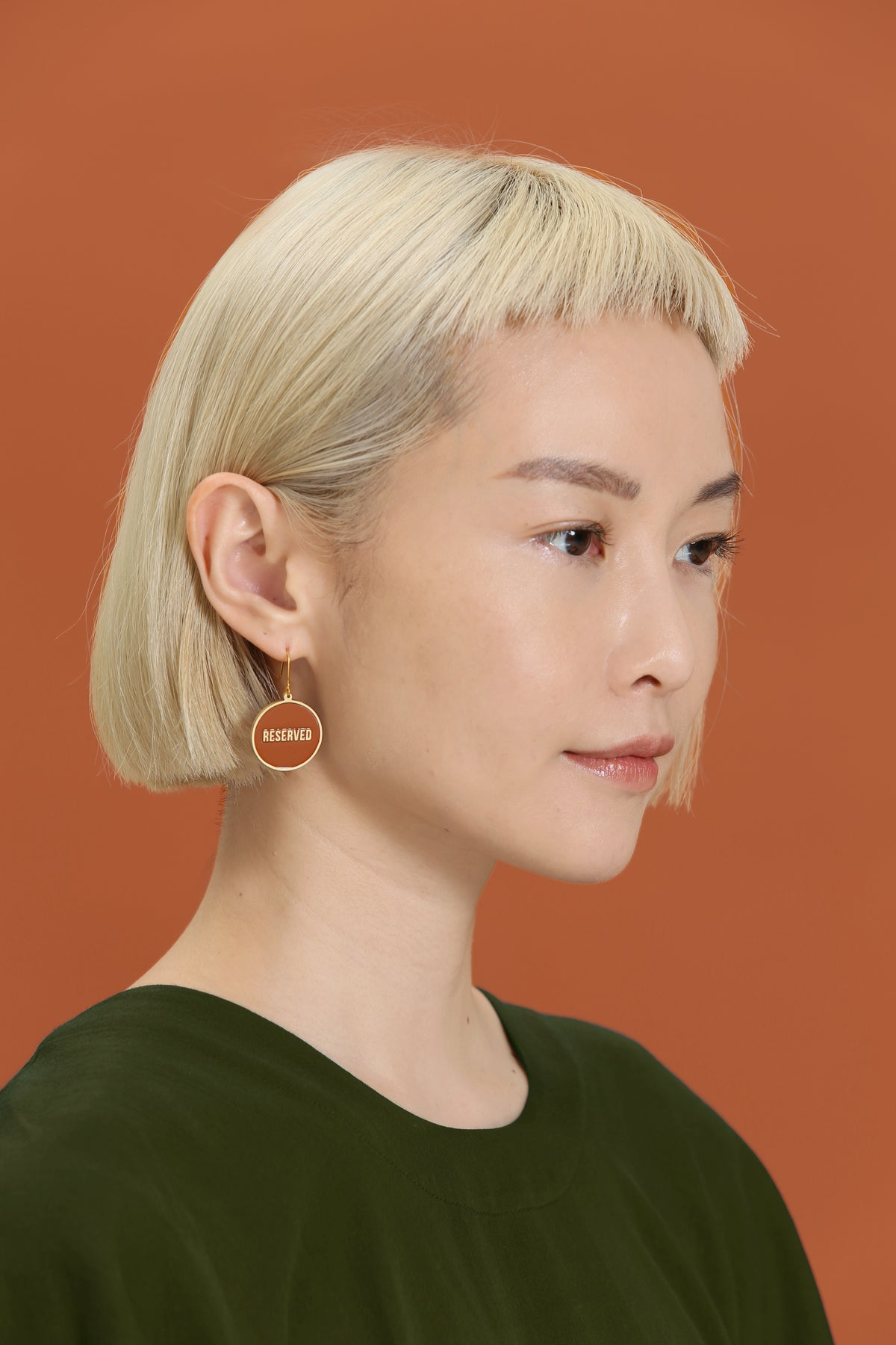 Image of Not for Everyone + Reserved - reversible Earrings  • Stainless steel