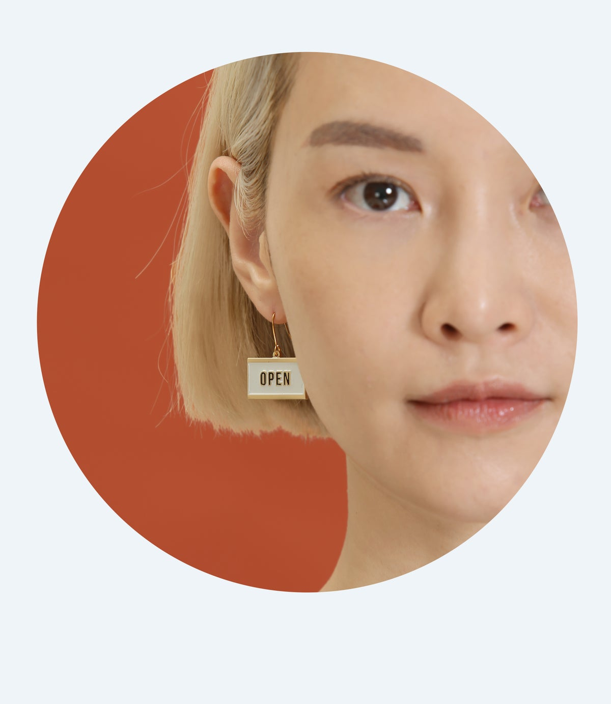 Image of OPEN+ CLOSED - reversible Earrings • Stainless steel