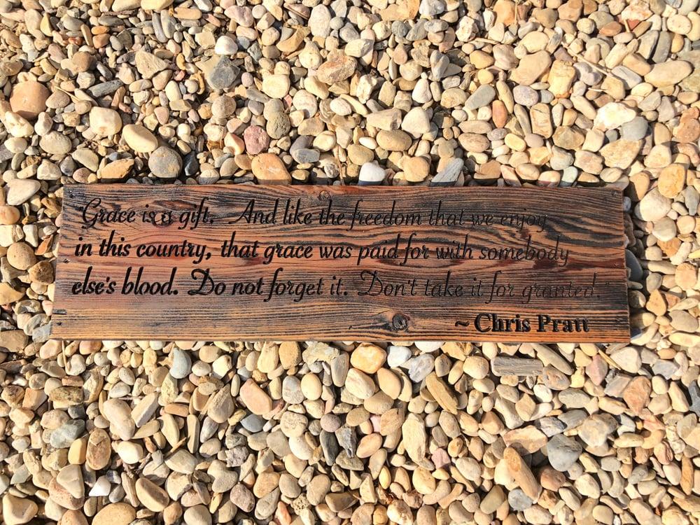 Image of Chris Pratt's 9 Rules Sign