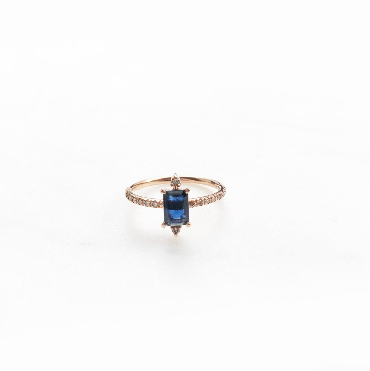 Image of Sparkling Blue Sapphire Ring (S)