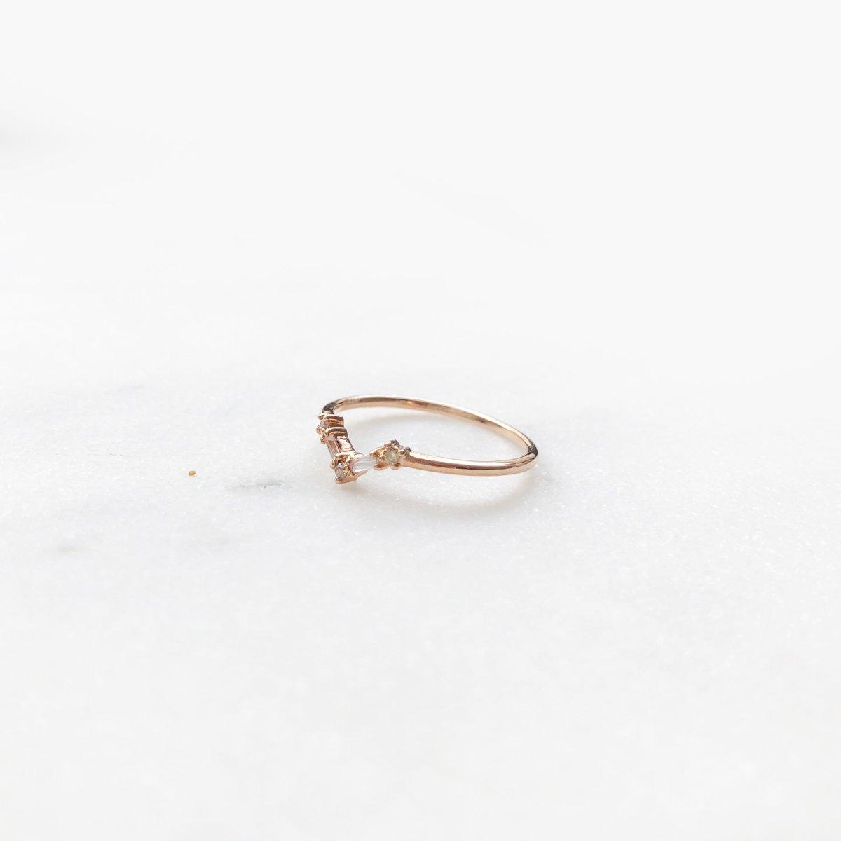 Image of Mini Deco Baguette Ring