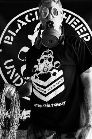 Image of We Are The Threat White ts/Black ts