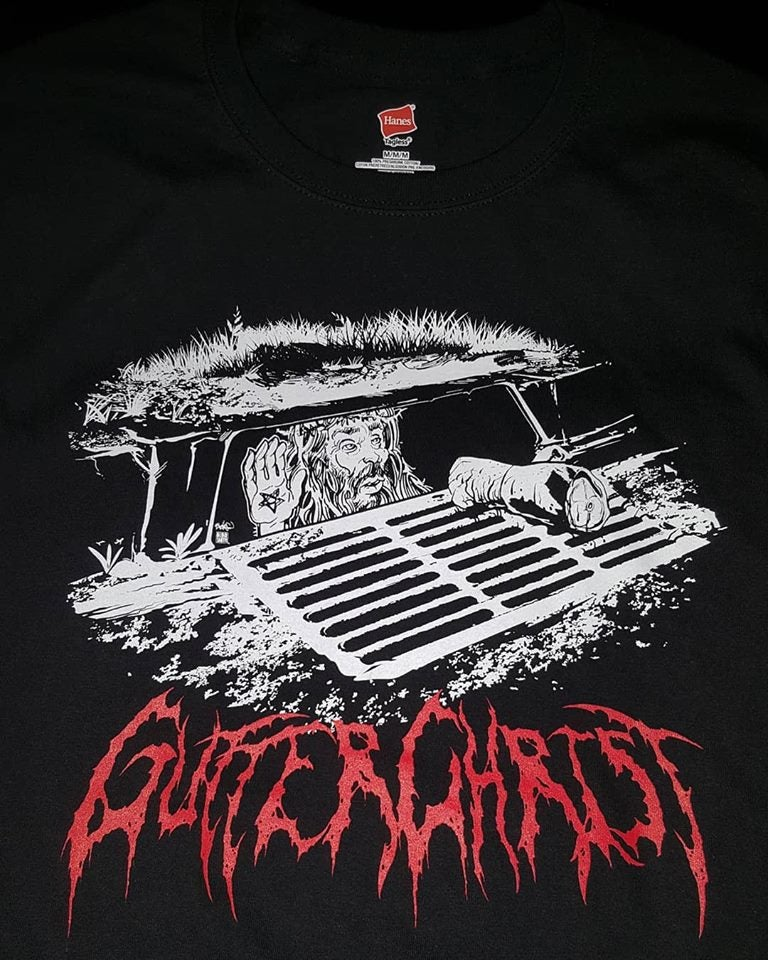 Image of GUTTER CHRIST SEWER T SHIRT (IN STOCK)