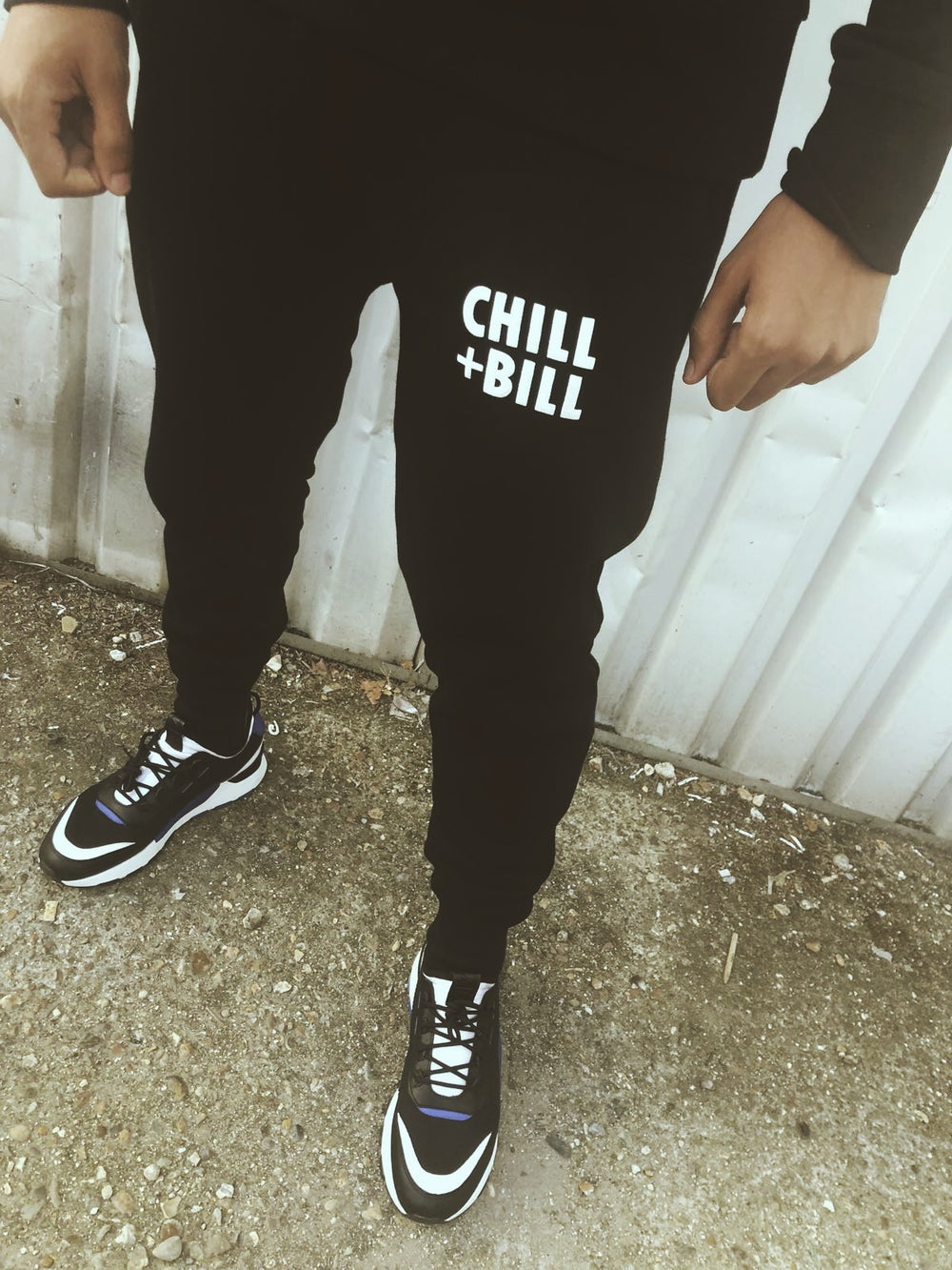 Image of Chill+Bill Joggers in Black