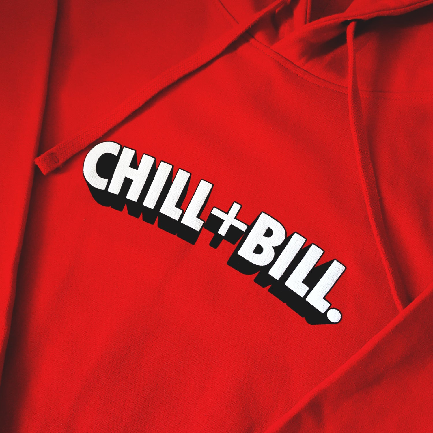 Image of Chill+Bill 3D Hoodie in Red