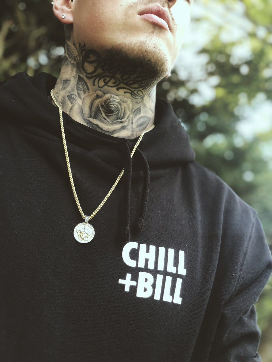 Image of Chill+Bill SQ Hoodie in Black