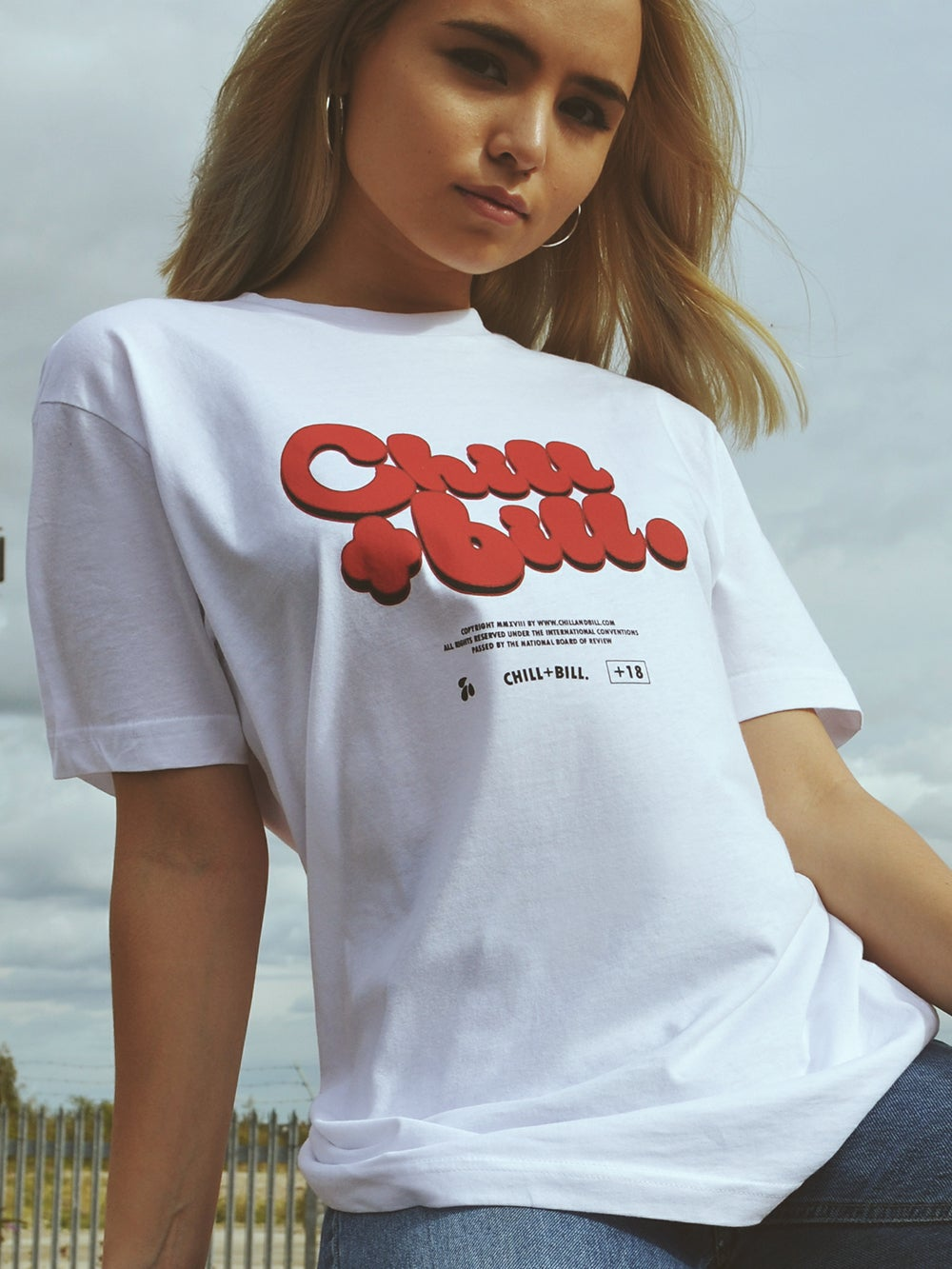 Image of Chill+Bill Movie T-Shirt in White