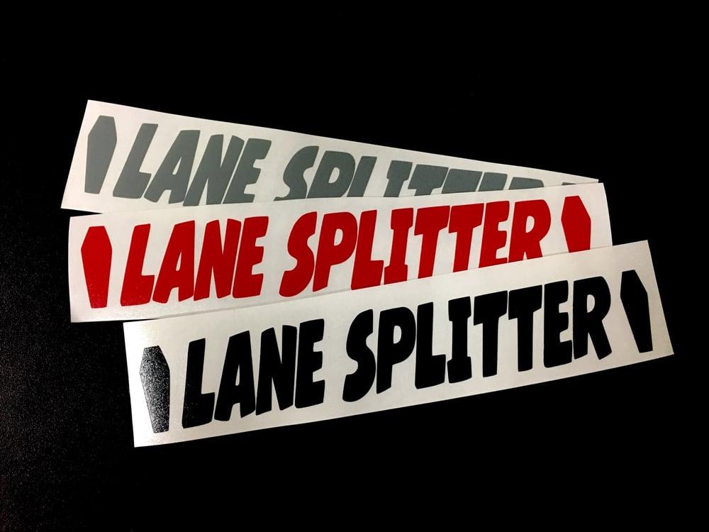 Image of Lane Splitter coffin swingarm decal set