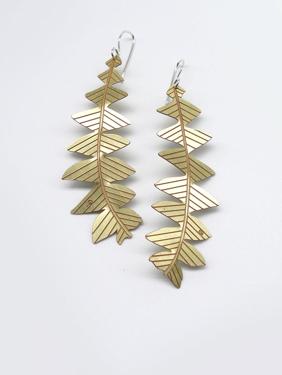 Image of LEAF EARRING: BANKSIA GRANDIS (BRASS)