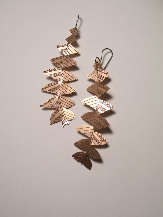 Image of LEAF EARRINGS: BANKSIA GRANDIS (COPPER)