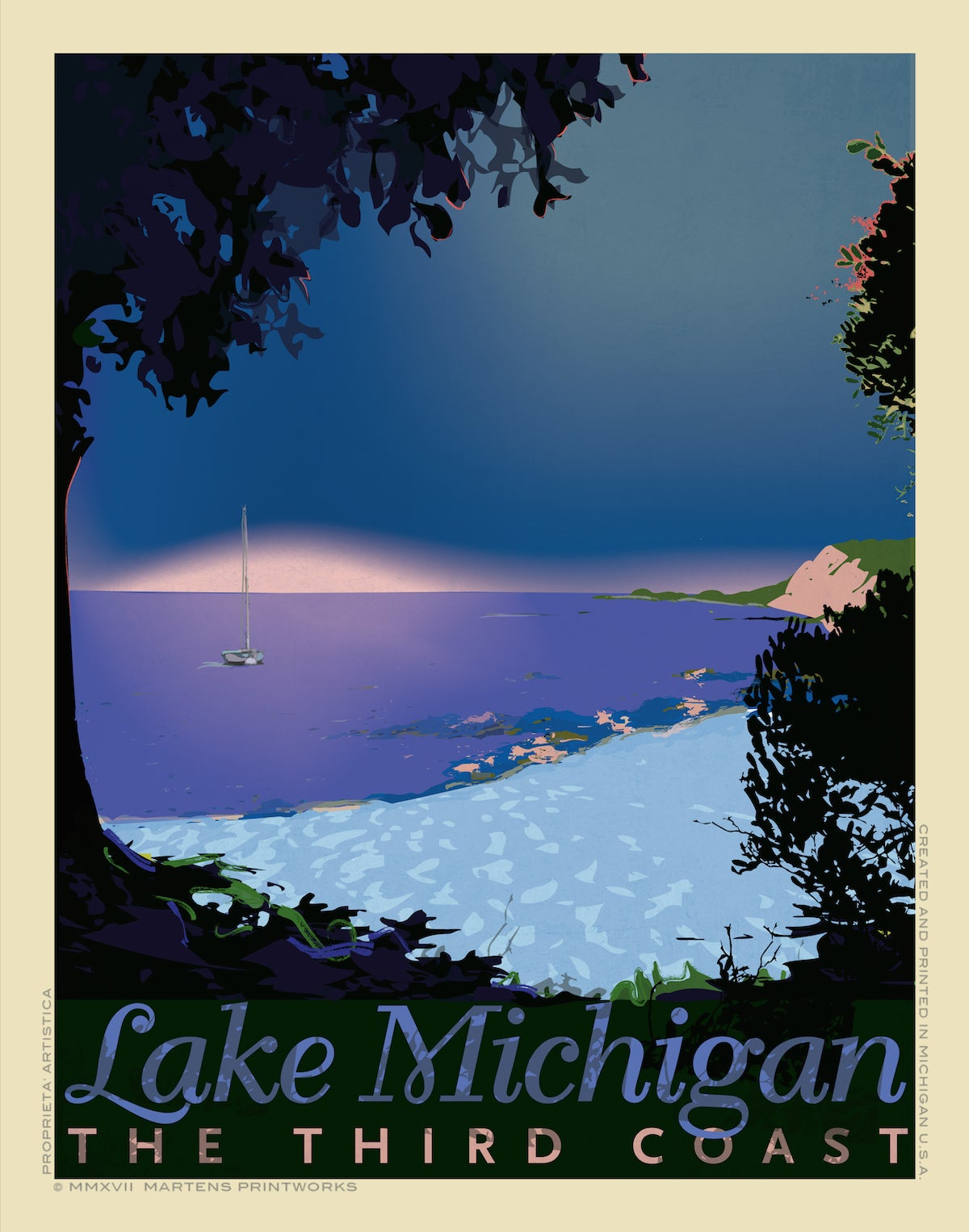 Image of  Lake Michigan at Twilight 11x14 Archival Pigment Print, Print No. [081]