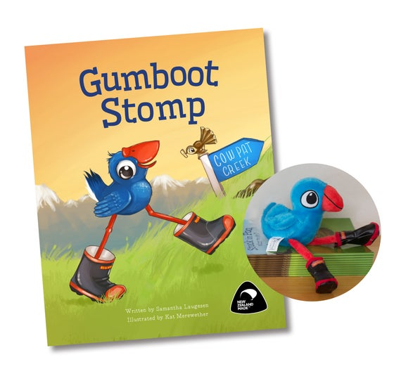 Image of NEW Gumboot Stomp book and Luke the Pook Soft Toy